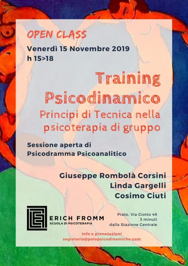 2019.11.15 TRAINING PSICODINAMICO