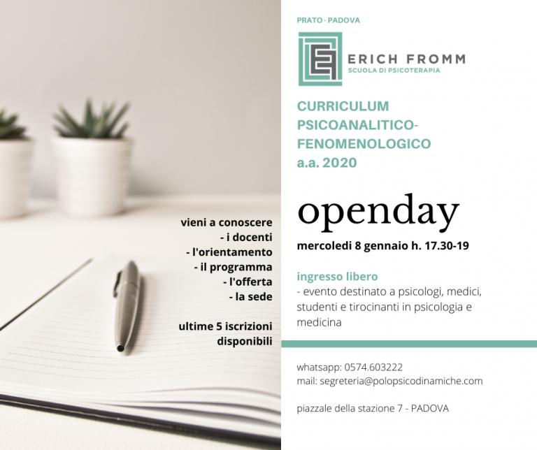 openday Padova 8 gennaio 2020