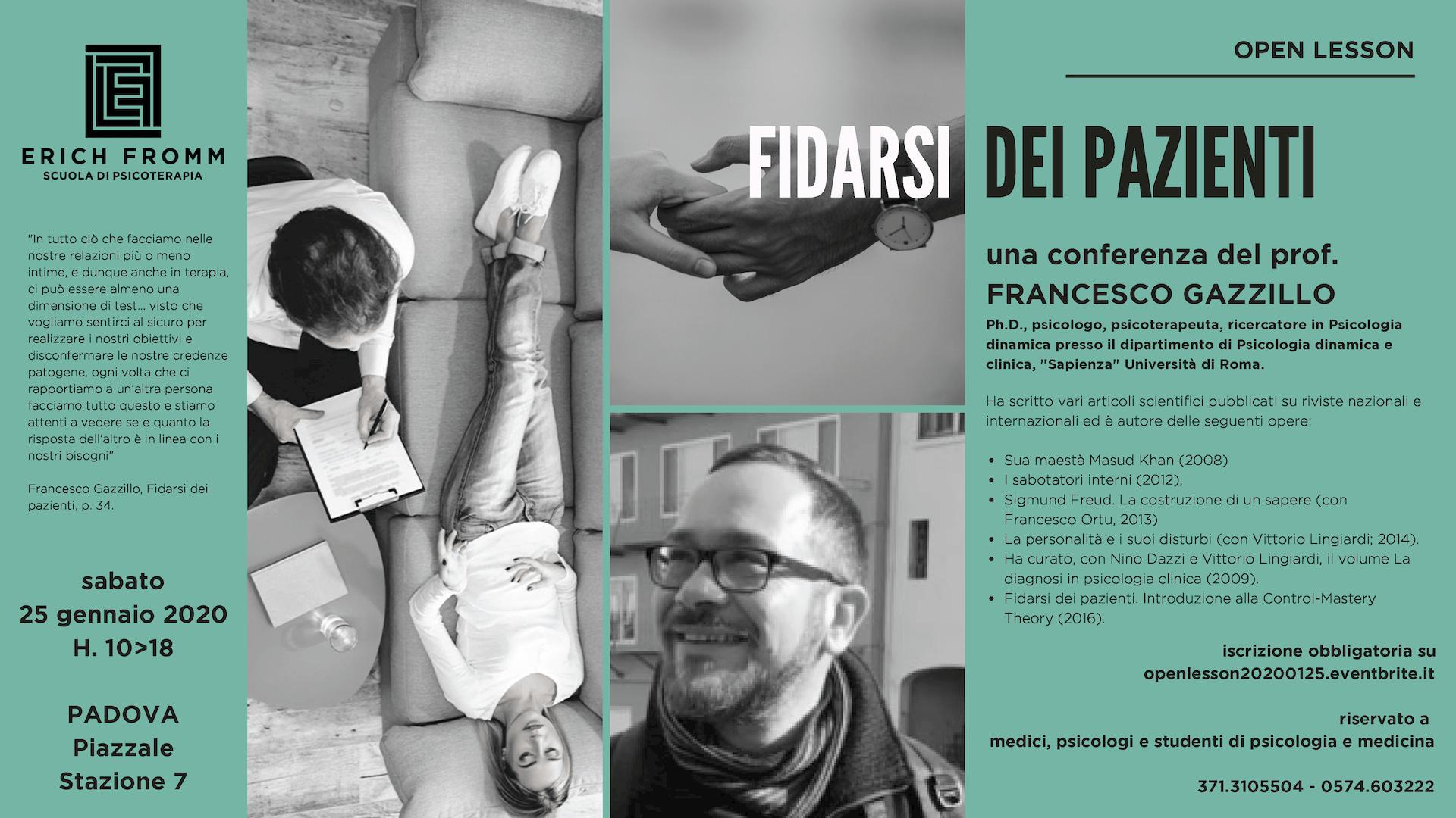 PD - 2020.01.25 FIDARSI DEI PAZIENTI - FRANCESCO GAZZILLO