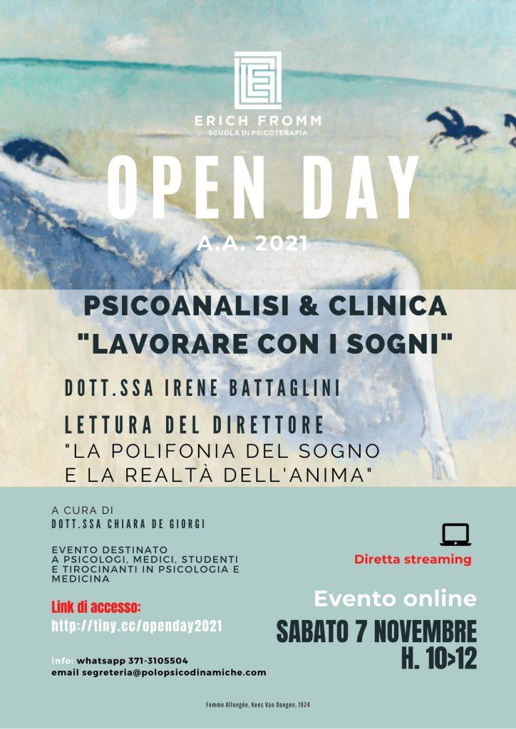 Open day 7 novembre 2020 locandina